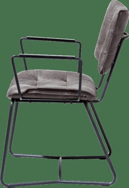 Julien - armlehnstuhl - gestell schwarz - corsica