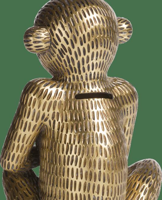 Coco Maison - piggy bank monkey - gold