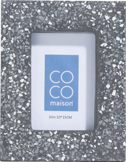 Coco Maison - photo frame terrazzo medium - anthracite