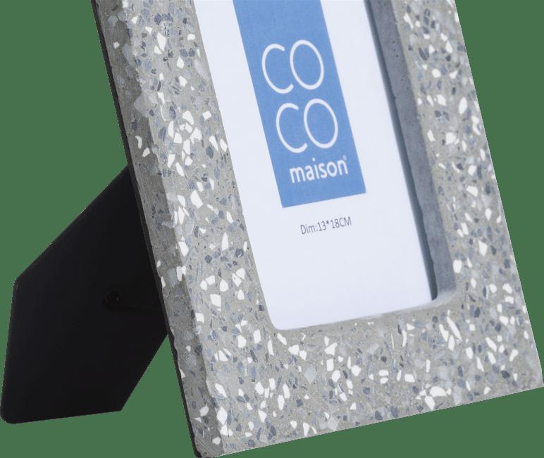 Coco Maison - photo frame terrazzo large - grey