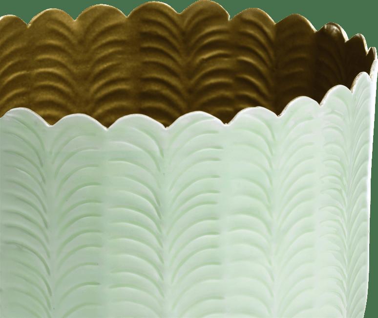 Coco Maison - bowl agata - aluminium - mint