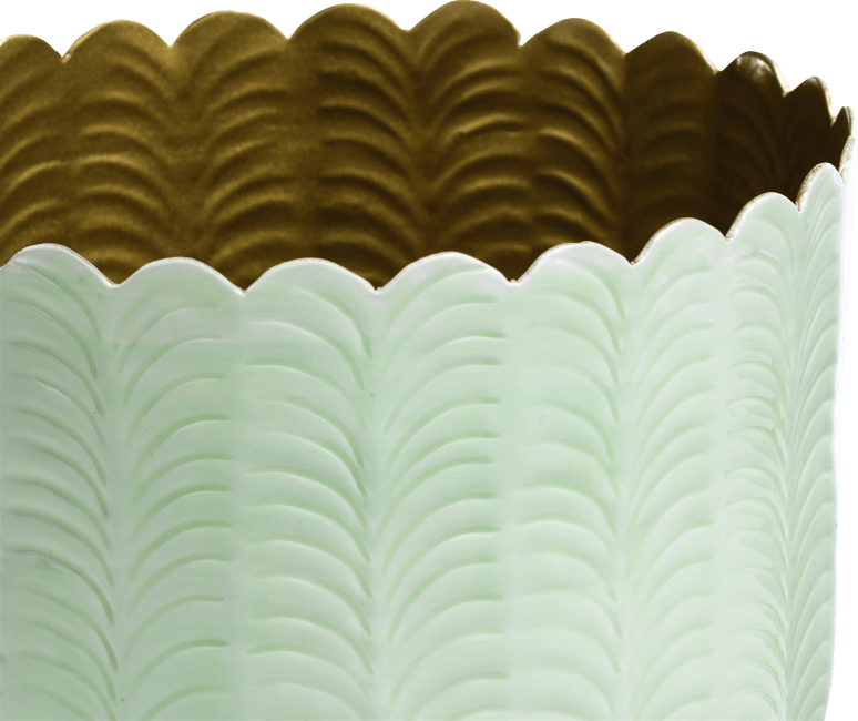 Coco Maison - schaal agata - aluminium - mint