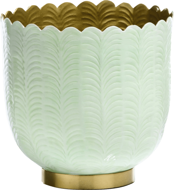 Coco Maison - plateau agata - aluminium - mint