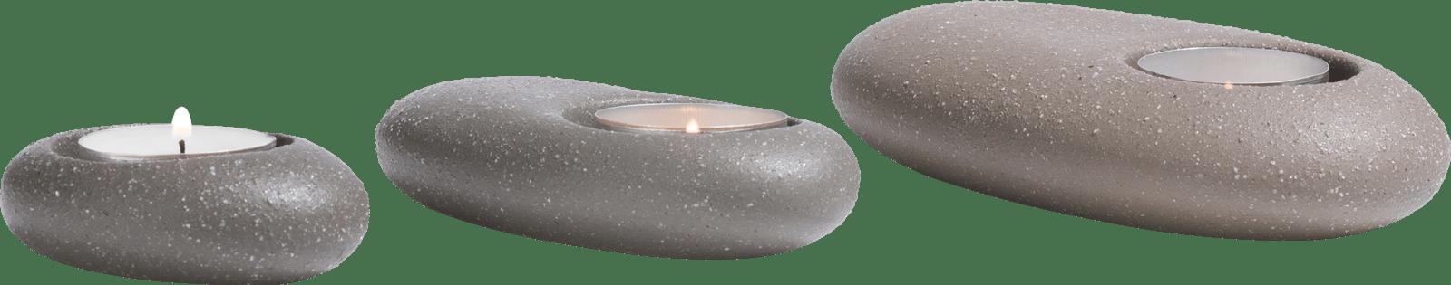 Coco Maison - theelicht stones - set van 3