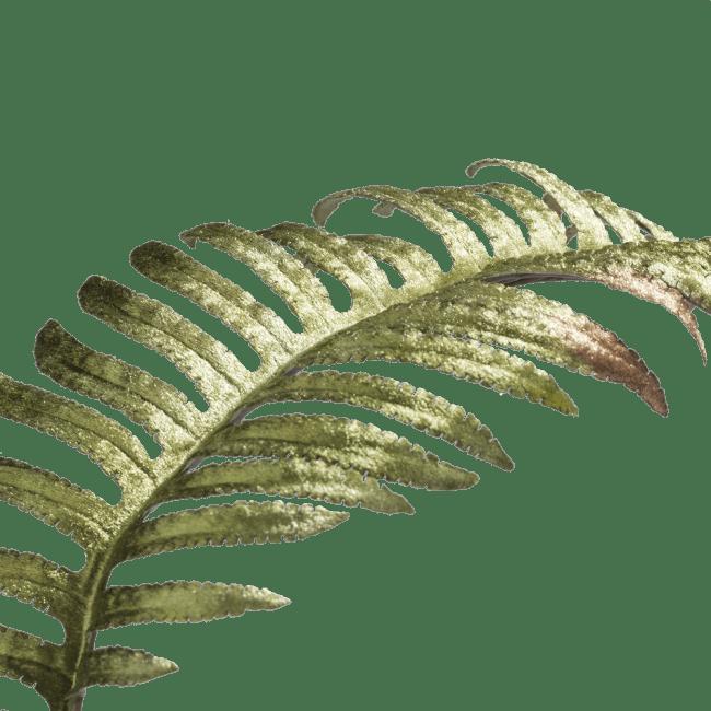 Coco Maison - fern leaf velvet - 97 cm - geel / groen