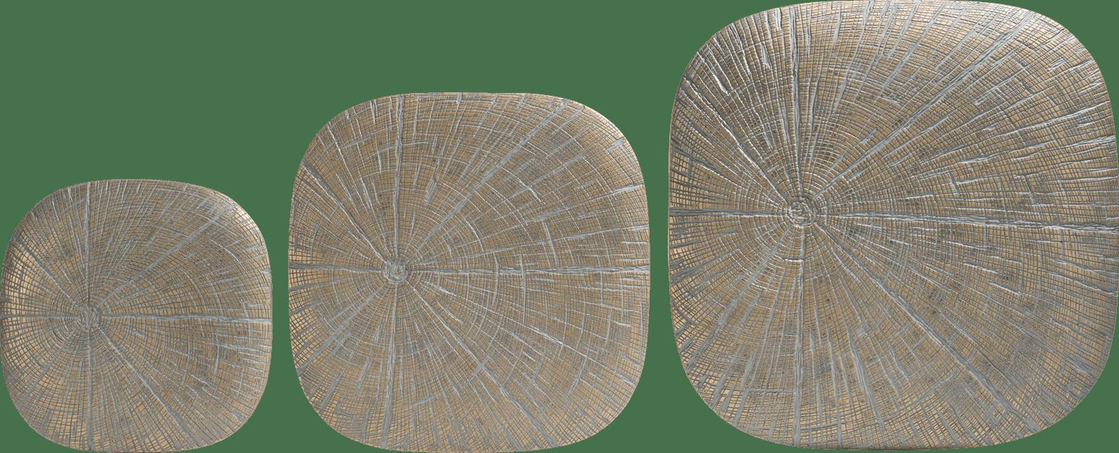 Coco Maison - wanddeco lena - set van 3 - goud