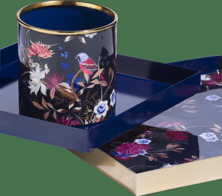 Coco Maison - plateau en pennenhouder flower 20 x 20 / 25 x 25 cm - set van 3