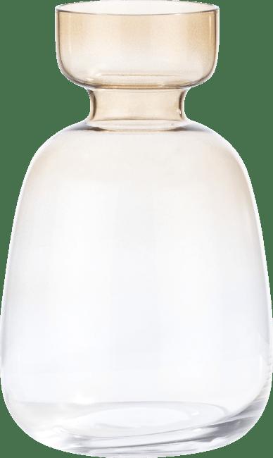Coco Maison - vaas emma medium - bruin / groen