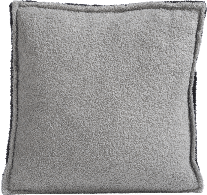 Coco Maison - cushion fluffy grey - 45 x 45 cm