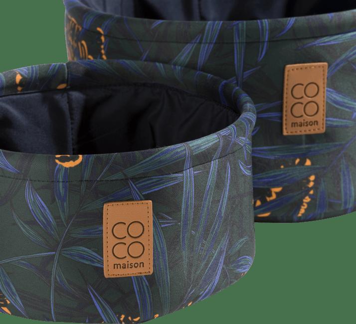 Coco Maison - 2 paniers - impression tigre