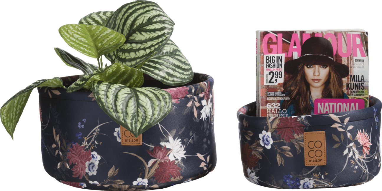 Coco Maison - 2 paniers - impression fleur