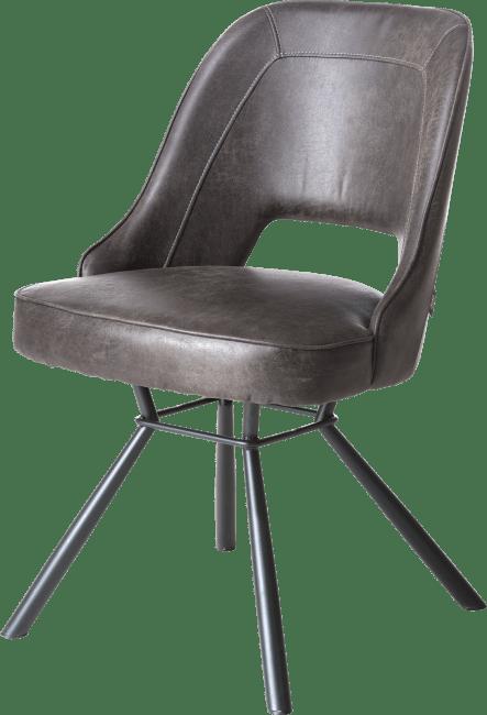 Chris - stuhl schwarz gestell+taschenfeder+handgriff rund schwarz - secilia