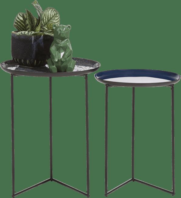 Coco Maison - 2 tables d'appoint nashville - bleu