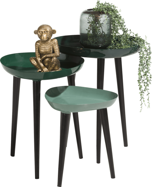 Coco Maison - 3 bijzettafels austin - groen