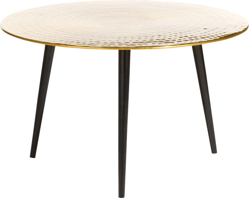 Coco Maison - table basse miami 70 x 70 cm - or