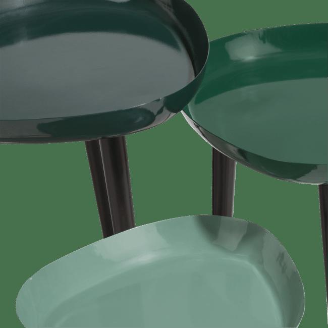 Coco Maison - 3 tables d'appoint austin - vert