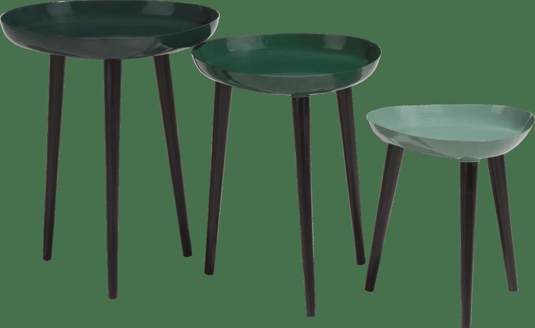Coco Maison - 3 beistelltischen austin - gruen