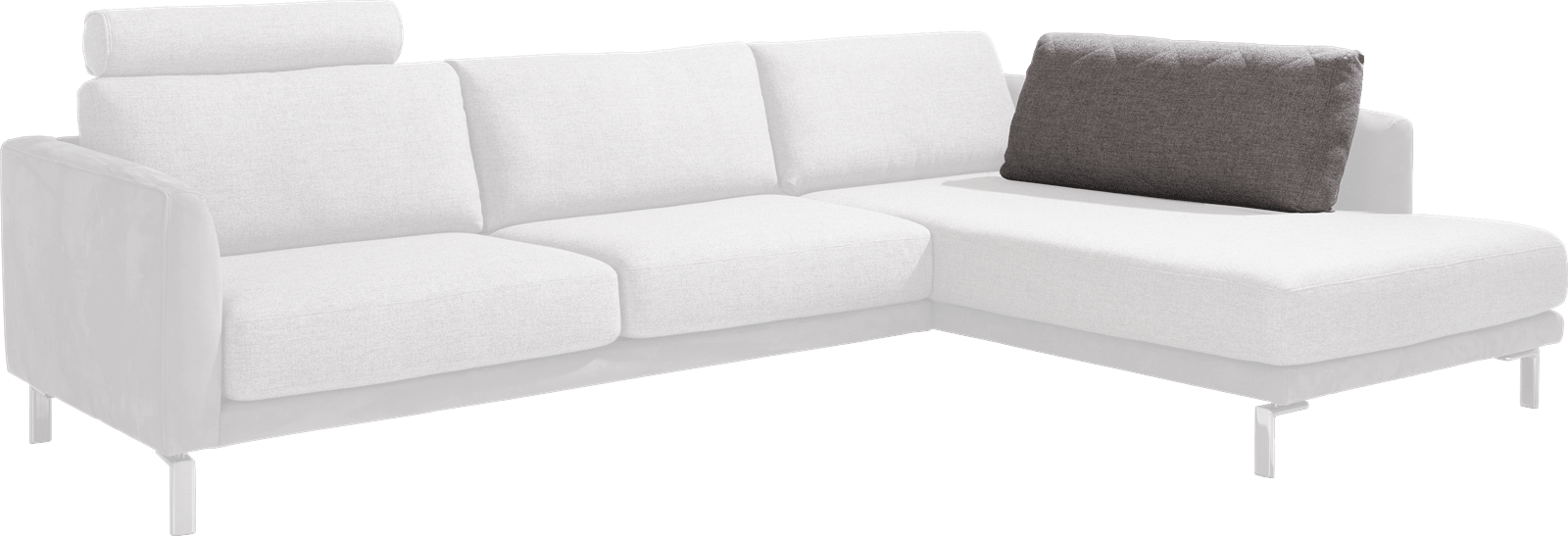 Vigo - rugkussen voor longchair xl - 80 cm
