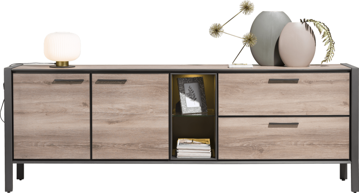 Copenhagen - dressoir 240 cm - 2-deuren + 2-laden + 2-niches (+ led)
