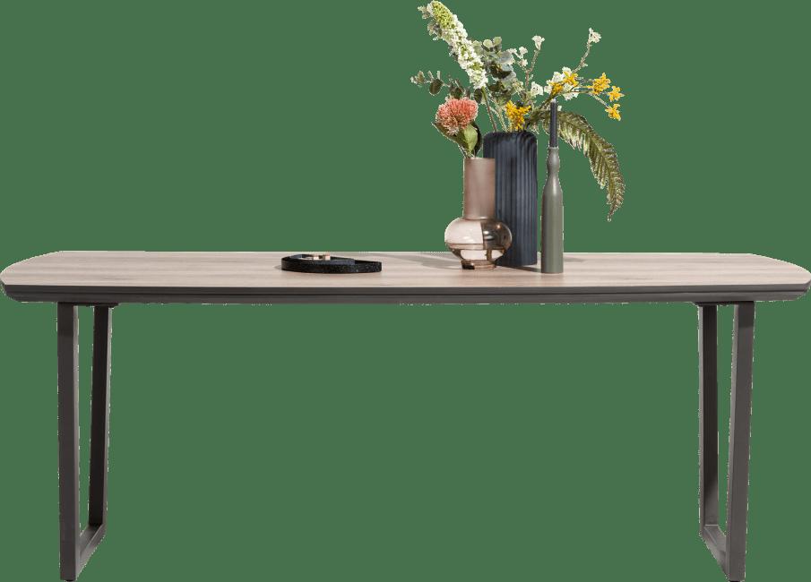 Copenhagen - eetkamertafel 210 x 98 cm. - v-poot