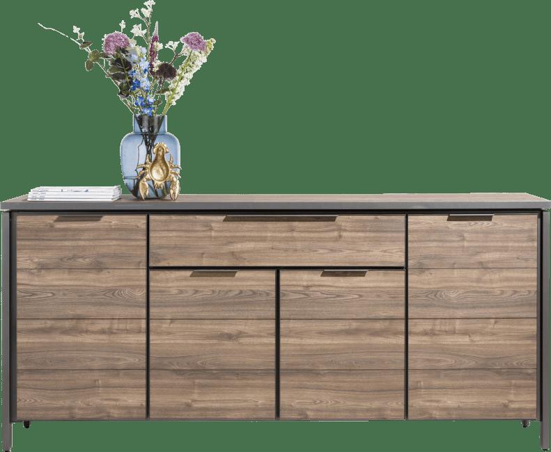 Madeira - dressoir 190 cm - 4-deuren + 2-laden (optisch 1-lade)