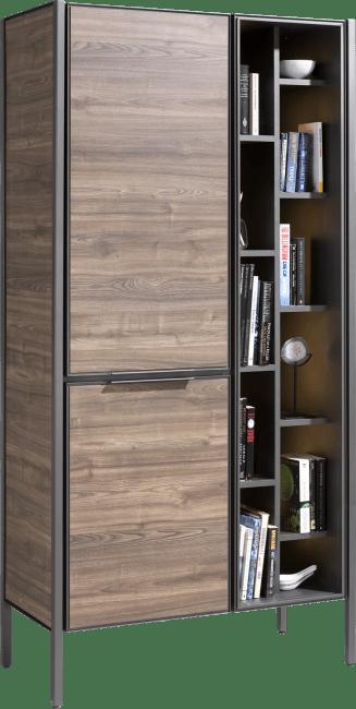 Domani - bergkast 95 cm - 2-deuren + 11-niches (+ led)