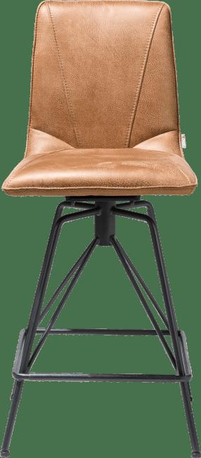 Mac - chaise de bar - pied off black rocky + poignee catania noir