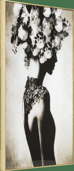 Coco Maison - wanddecoratie flower crown - 70 x 100 cm - print op glas
