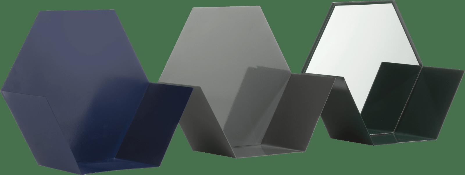 Coco Maison - 3 etageres hexa - multicouleur