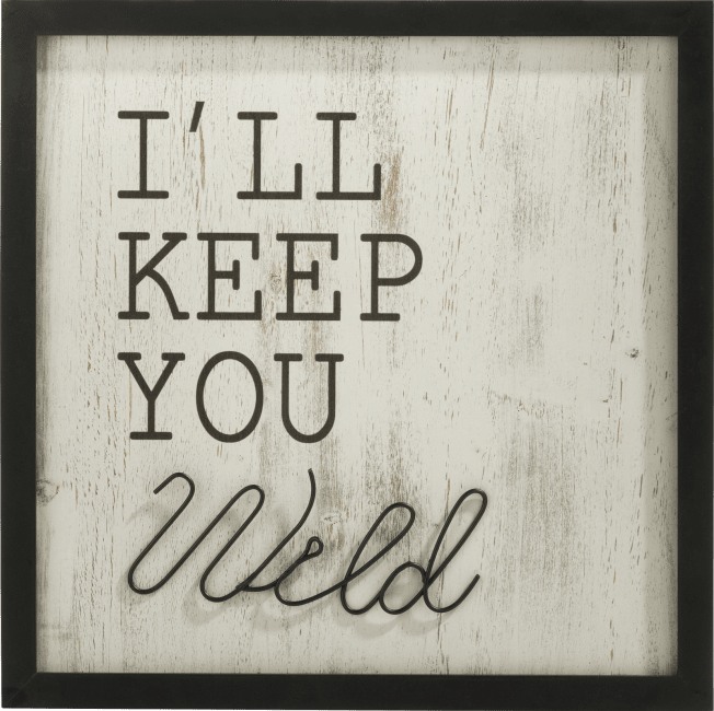 Coco Maison - wanddeco keep you wild - 40 x 40 cm