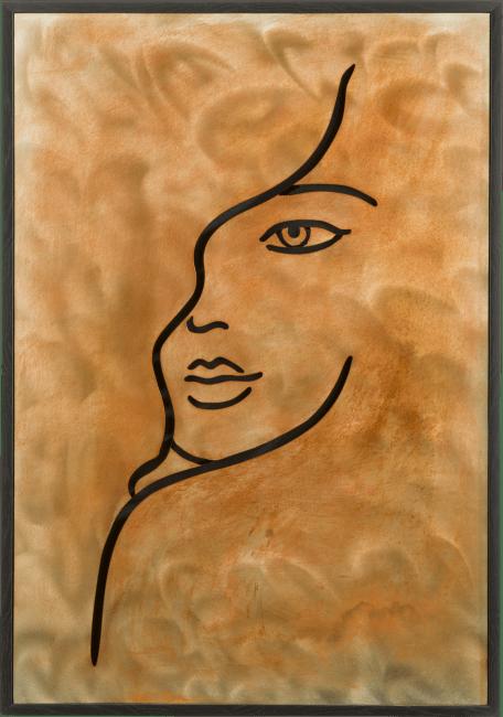Coco Maison - 3d-mural face - 70 x 100 cm