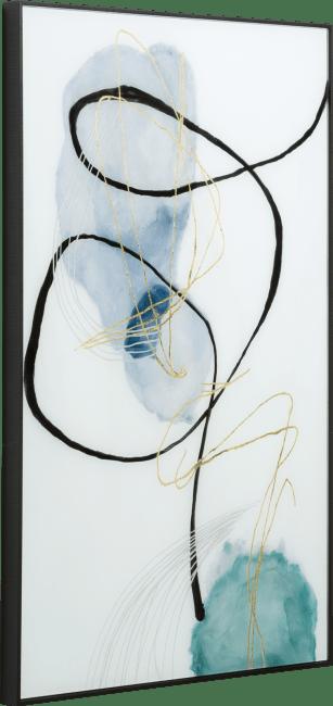 Coco Maison - wanddecoratie blue pastel - 70 x 100 cm - print op glas