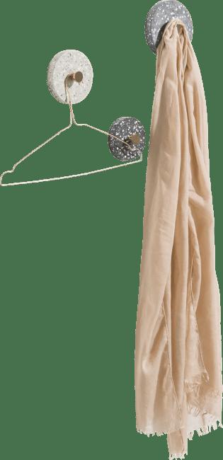 Coco Maison - crochet terrazzo - set de 3 - anthracite / gris / beige