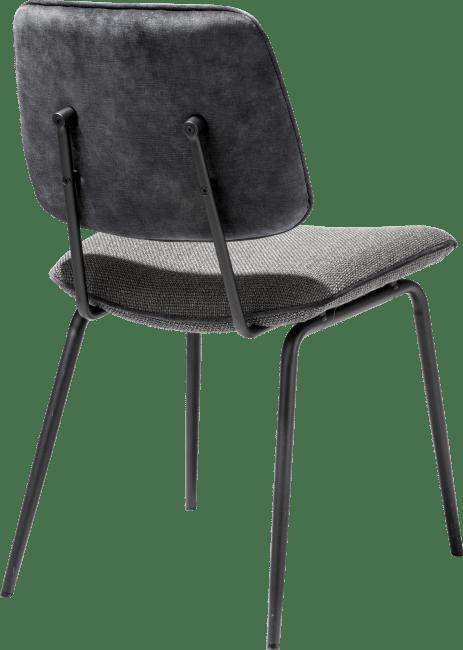 Novali - eetkamerstoel - frame off black - rug in karese & zit in vito