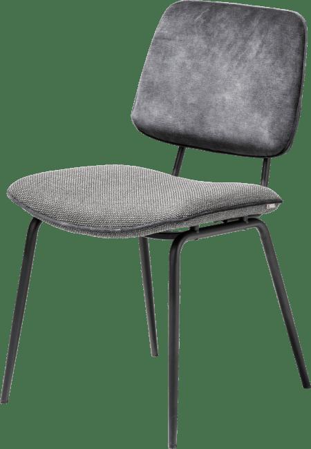 Novali - chaise - pied off black - dos en karese & assise en vito