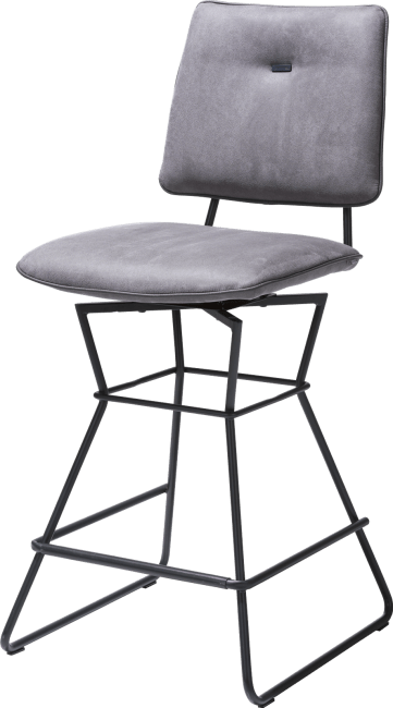 Ollie - barchair - black frame - kibo anthracite + piping tatra anthracite
