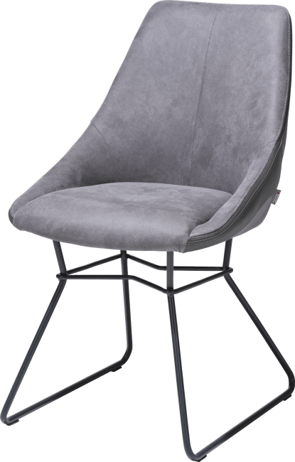 Arvin - dining chair - powdercoated black - combination kibo fr/tatra