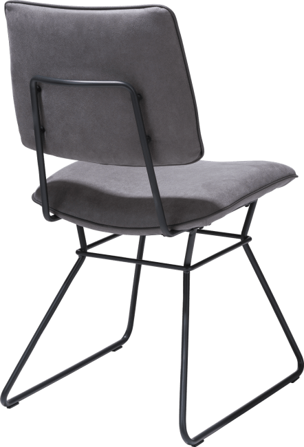 Ollie - dining chair - black frame - kibo with piping tatra anthracite