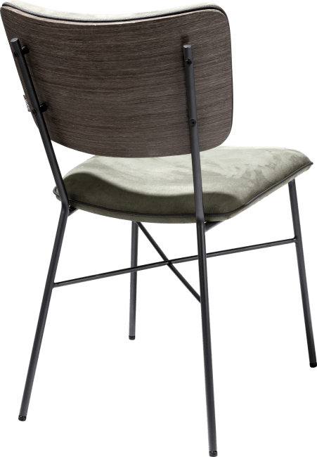 Bjorg - chaise - dos multiplex anthracite - tissu savannah