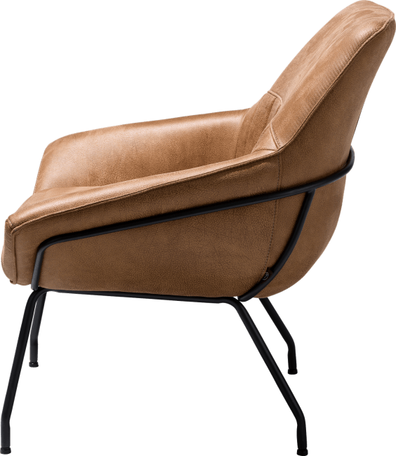 Samara - lounge - frame off black - stof rocky