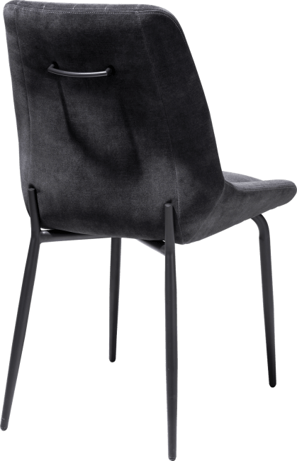 Remon - eetkamerstoel - 4 pootjes zwart - stof karese