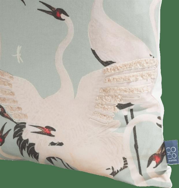 Coco Maison - cushion stork - 45 x 45 cm