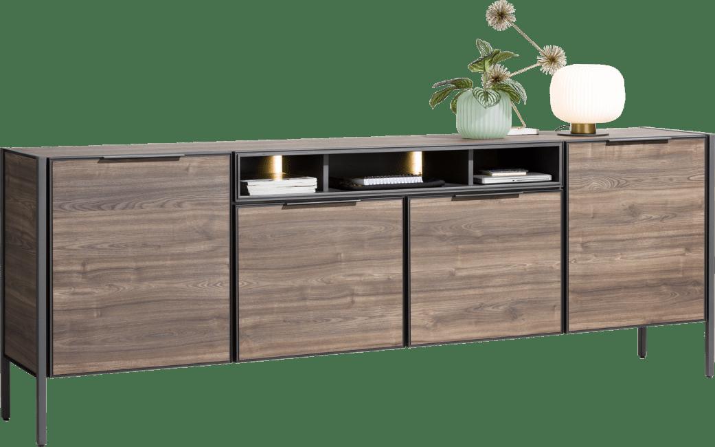 Domani - dressoir 240 cm - 4-deuren + 3-niches (+ led)