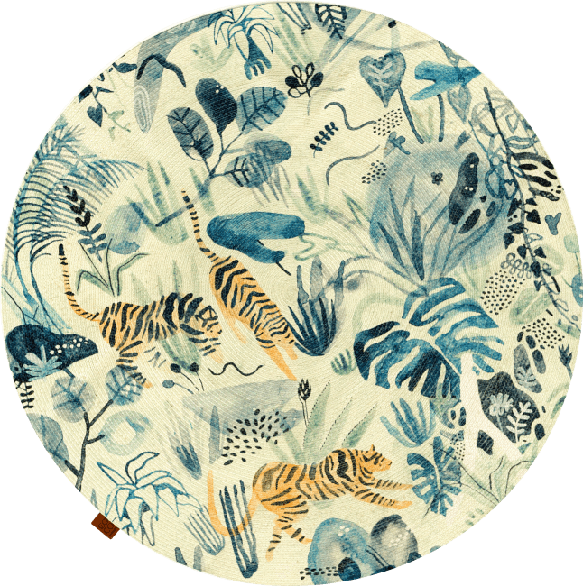 Coco Maison - tapis crazy jungle - exterieur - diametre 145 cm