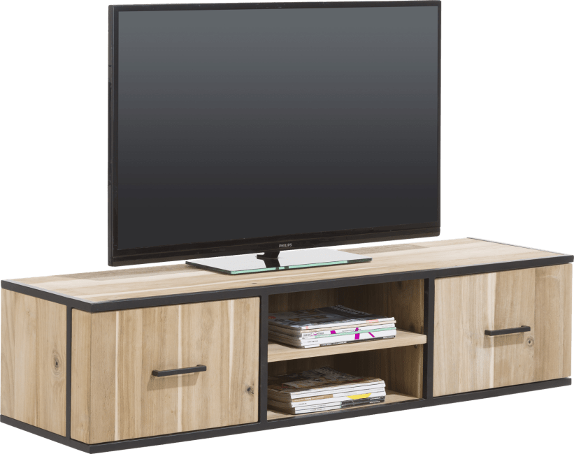 Kinna - tv-dressoir 150 cm - 1-deur + 1-lade + 2-niches