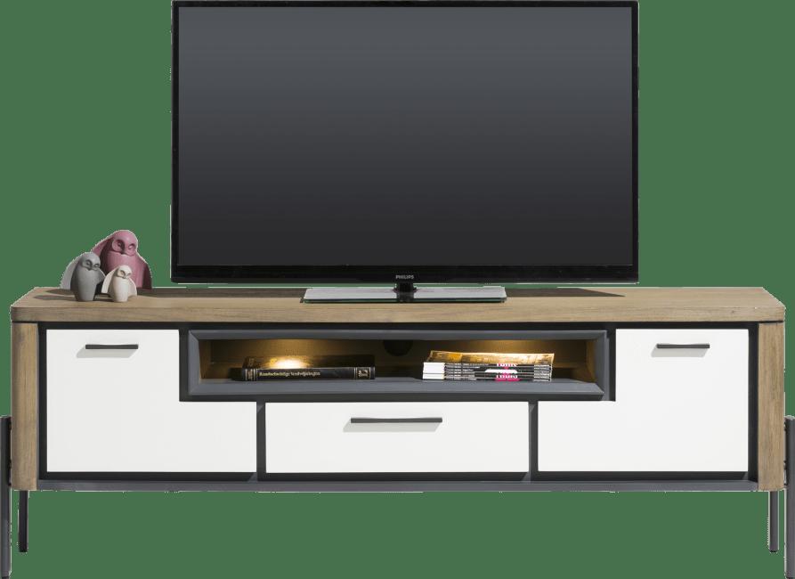 Shirley - lowboard 170 cm - 2-portes + 1-tiroir + 1-niche (+ led)