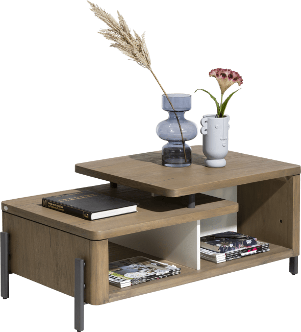Shirley - table basse 110 x 60 cm + 1-niche