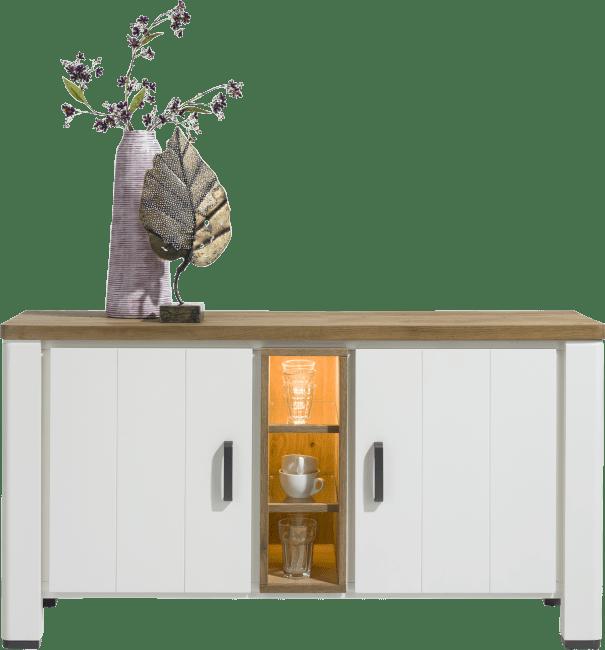 Arizona - dressoir 140 cm - 2-deuren + 3-niches (+ led)