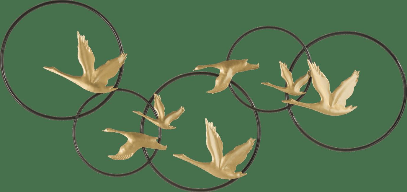 Coco Maison - wanddecoratie stork - 120 x 57 cm - metaal