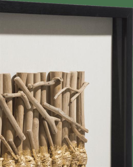 Coco Maison - 3-d wand-object drift sticks - 70 x 70 cm
